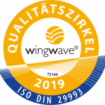 Siegel des wingwave Qualitätszirkels 2019.